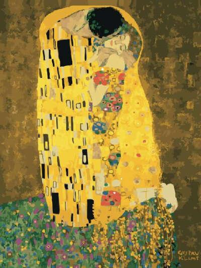 Картина по номерам Поцелуй (Климт) 40х50 см, Paintboy
