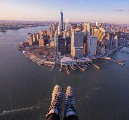 Экскурсия над Нью-Йорком на вертолете без дверей - NewYorkCity.ru