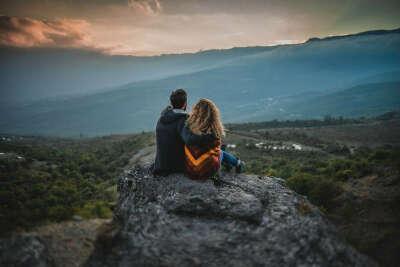 Фотосессию в горах с мужем