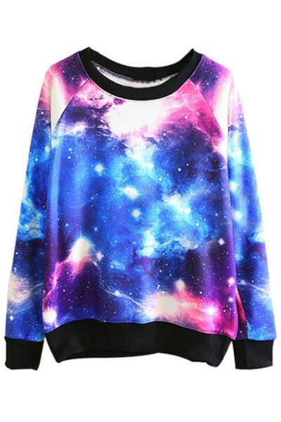 ROMWE Tie-dye Galaxy Sweatshirt