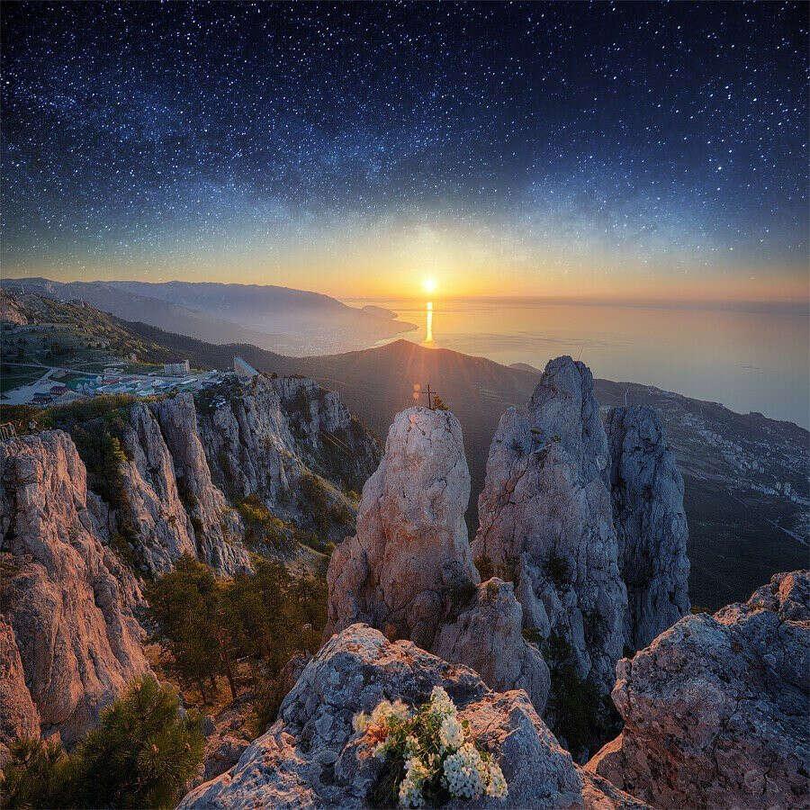Побывать в Крыму,на горе Ай-Петри