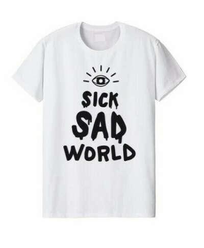 "Оверсайз футболка ""Sick sad world"""