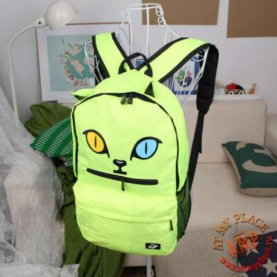 """Зеленый рюкзак с ушками """"Кот"""""""