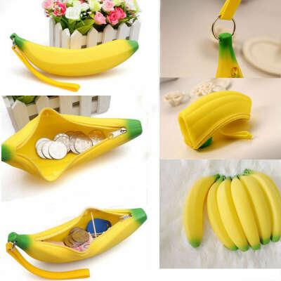 Silicone Portable Banana Coin Pencil Case by DDLBiz