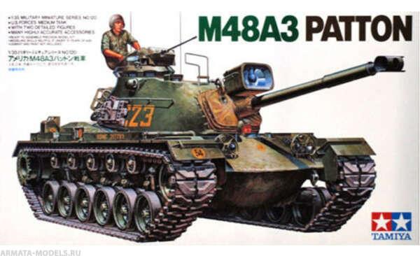 Купить сборную модель 35120 Танк М48А3 Patton U.S. Tamiya в интернет-магазине недорого, цена в Москве
