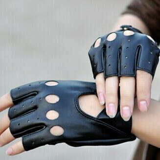 Кожаные перчатки для мотика