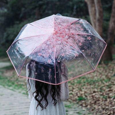 прозрачный складной зонт