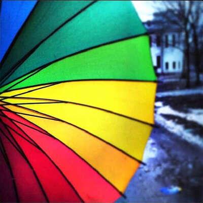 Огромный зонт Радуга
