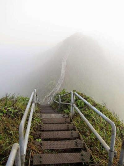 Пройти по лестнице в небо (Гавайи)