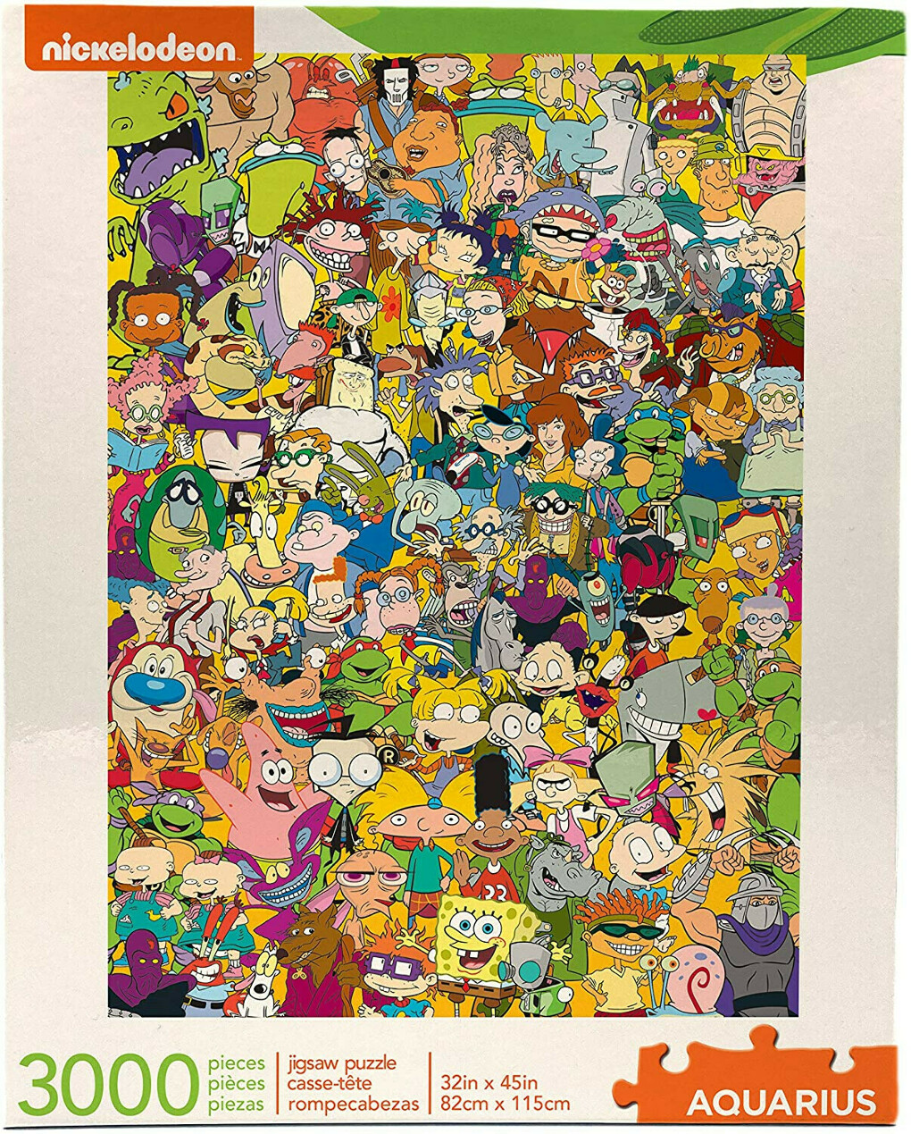 AQUARIUS Nickelodeon 90s Puzzle (3000 Piece Jigsaw Puzzle) - Officially Licensed Nickelodeon Merchandise & Collectibles - Glare Free - Precision Fit - Virtually No Puzzle Dust - 32 x 45 Inches