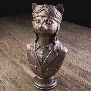 Статуэтка Cat Pilot Bust Satanas | Home Concept