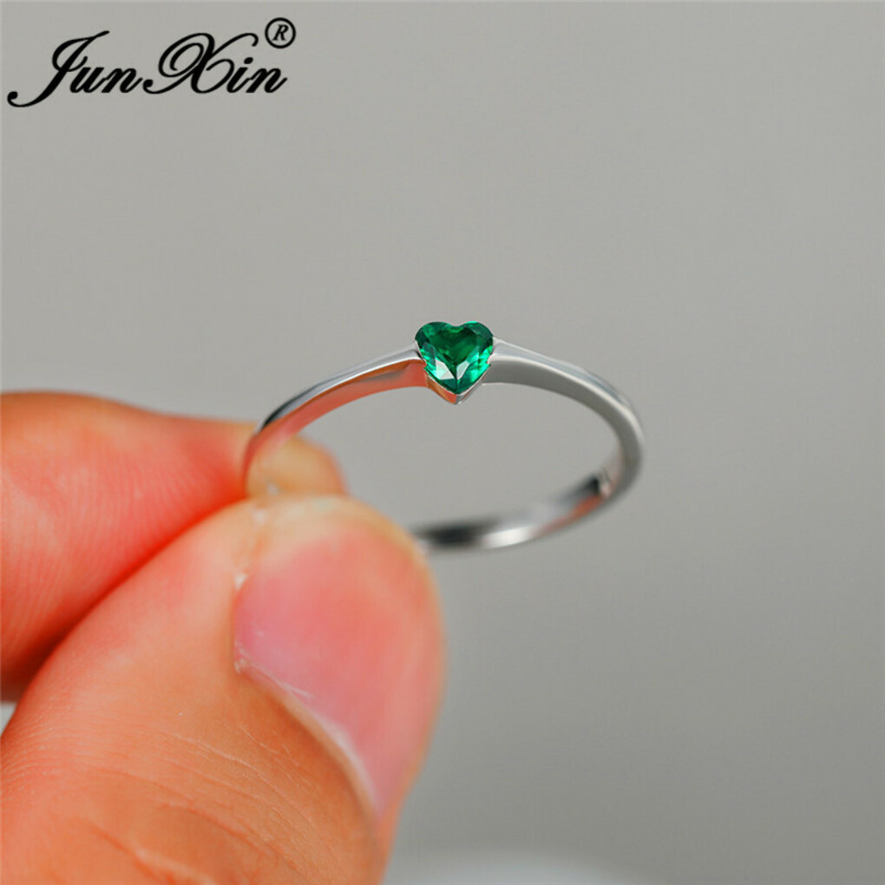 311.56руб. 49% СКИДКА Кольцо с полным белым золотом минималистичные обручальные кольца женские зеленые фиолетовые кристаллы любовное сердце тонкие кольца для женщин обручальные ювелирные изделия Кольца для помолвки      АлиЭкспресс
