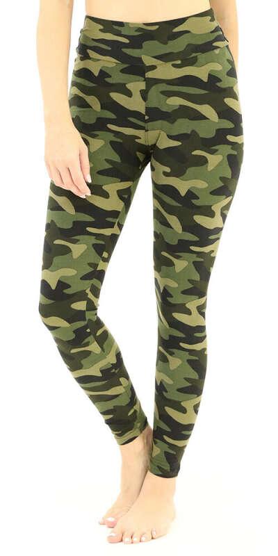 Buttery-Soft High-Waist Camouflage Leggings
