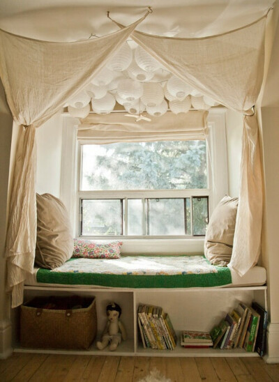 Место для чтения в окне