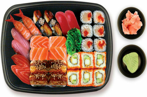 Съесть много суши