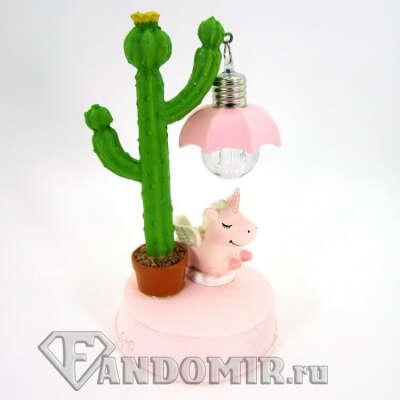 Светильник Единорог с кактусом Lucky