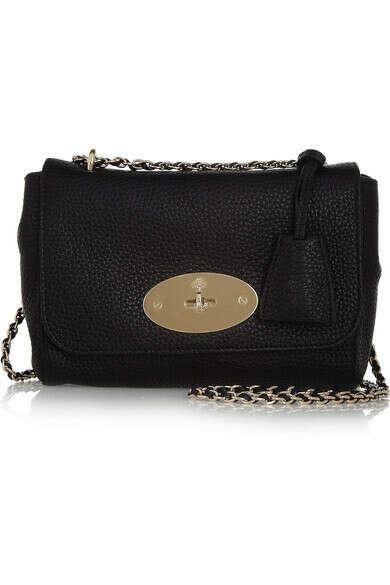 Lily grained-leather shoulder bag