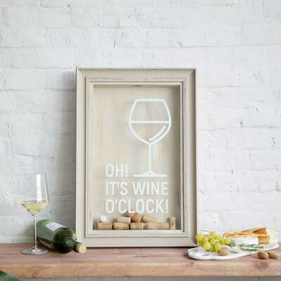 "Копилка для винных пробок ""OH! It's wine o'clock!"""