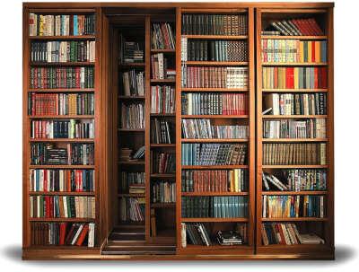 Раздвижной книжный шкаф