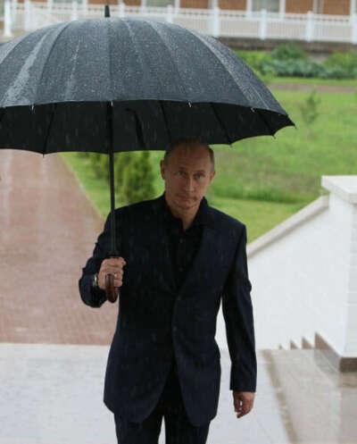 Большой зонт-трость классический