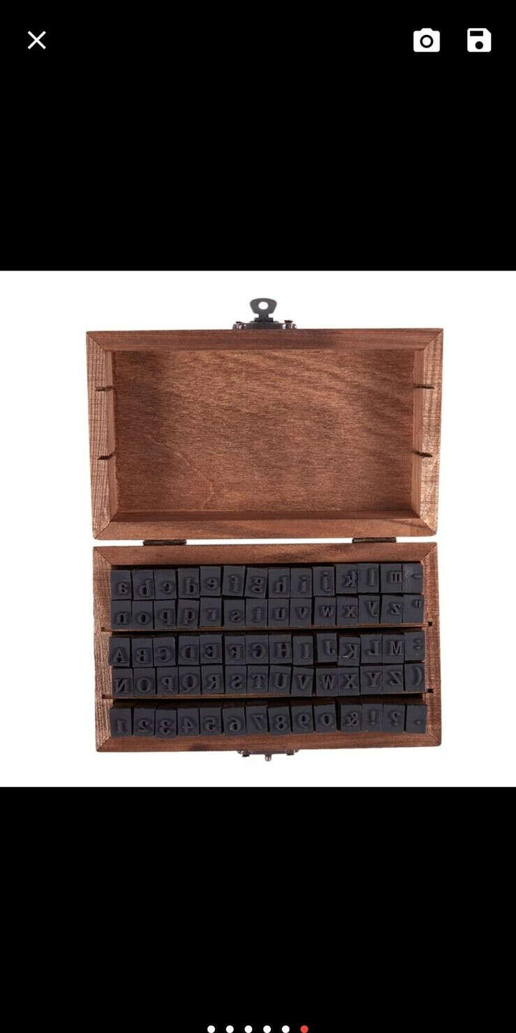 Набор штампов в Русским алфавитом