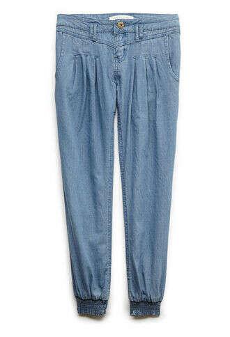 Pleated Denim Trousers