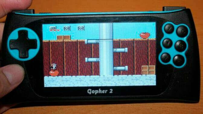 """Портативная игровая консоль SEGA Genesis Gopher 2 LCD 4.3"""", + 500 игр (синяя)"""