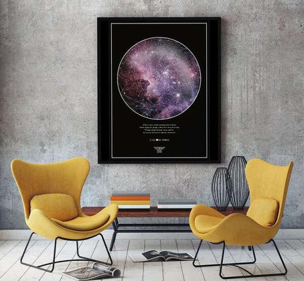 Звездная карта по данным