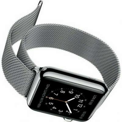 Ремешок на apple watch миланская петля серебро