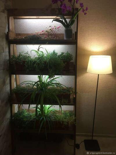 Стеллаж для цветов с подсветкой – купить в интернет-магазине на Ярмарке Мастеров с доставкой
