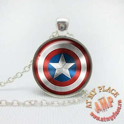 """Кулон-медальон """"Капитан Америка"""""""