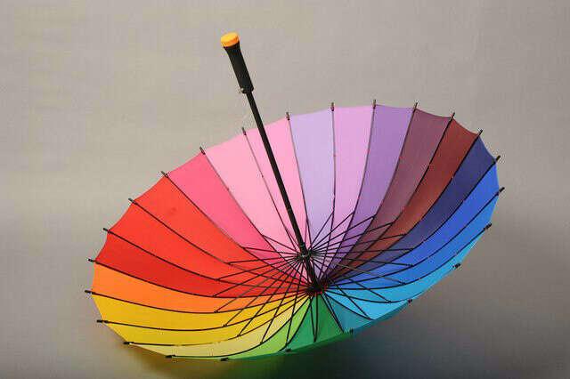 """Зонт-трость """"Радуга 24 цвета"""""""