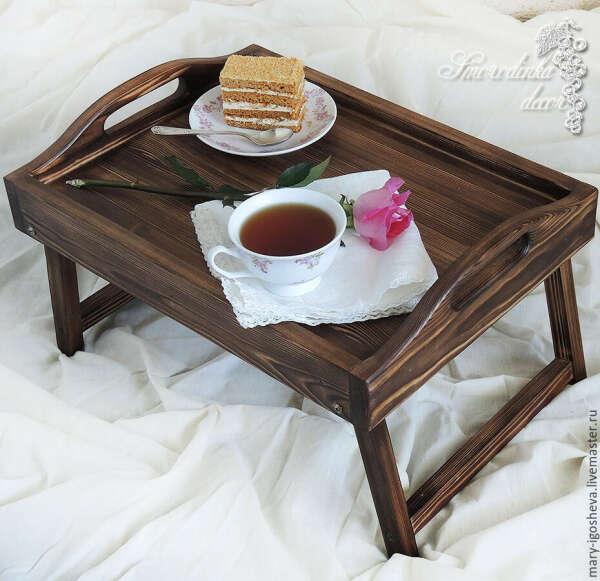 Поднос-столик Винтажный стиль