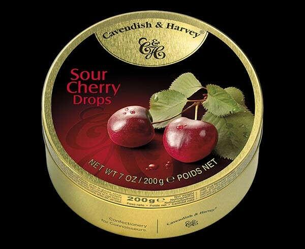 "Леденцы ""Cavendish & Harvey"" Cherry Drops / Со вкусом вишни 50 г."