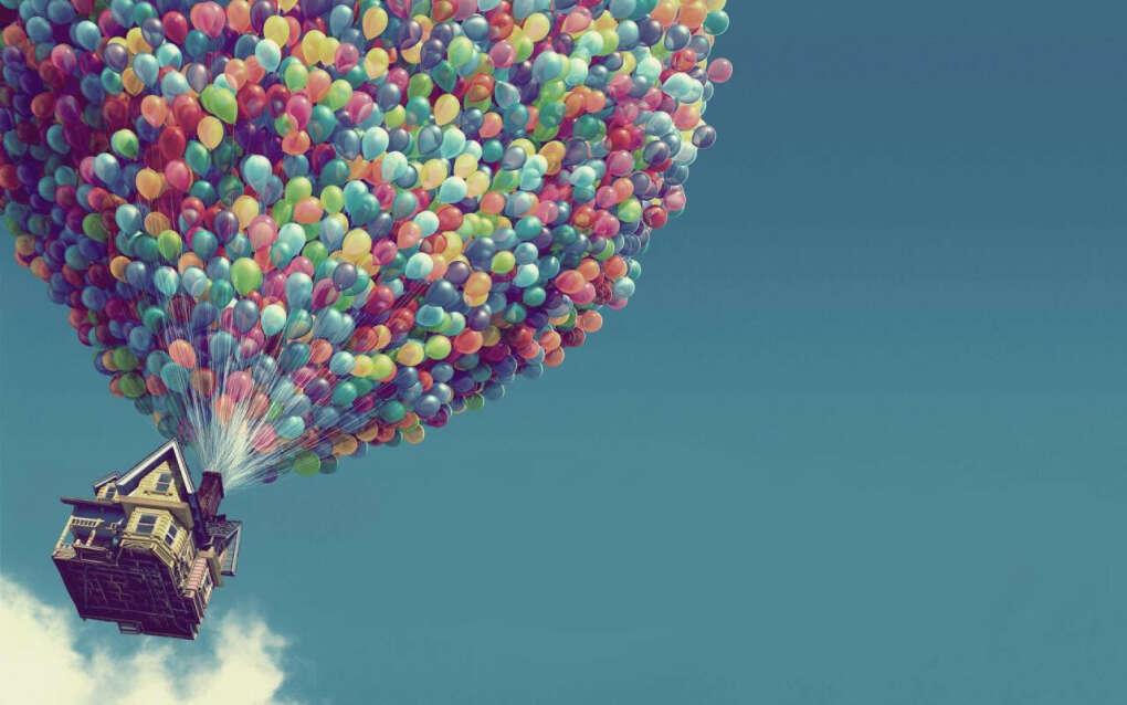 Много воздушных шариков