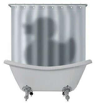 Занавеска для ванны Тень утки