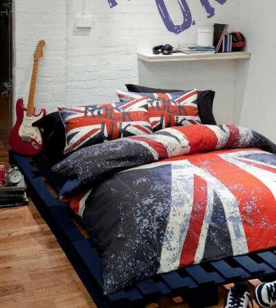 Постельное белье с британским флагом