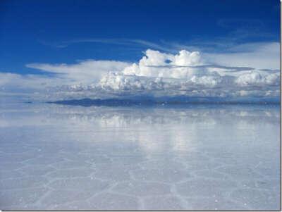 Озеро Солончак Уюни. Боливия.