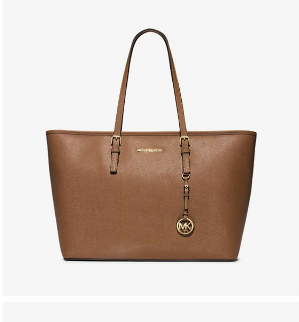 Jet Set Medium Saffiano Leather Top-Zip Tote Bag