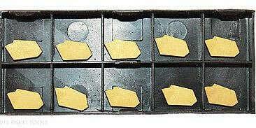 RISHET TOOLS GTN-3 C5 Multi Layer TiN Coated Carbide Inserts (10 PCS)
