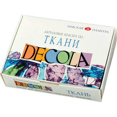 DECOLA Набор красок по ткани 12 цв. 20 мл 4141216