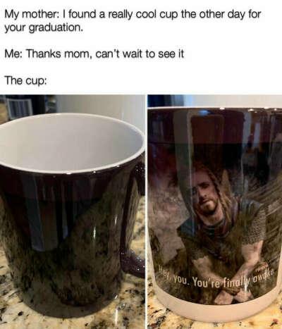 Skyrim meme mug