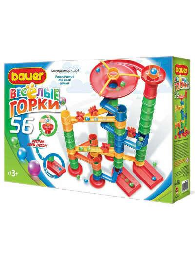 Детская развивающая игрушка конструктор STEM Bauer Игровой Набор Весёлые горки 56 3+, Bauer.