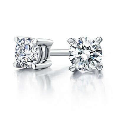 Сережки-пусеты с бриллиантами