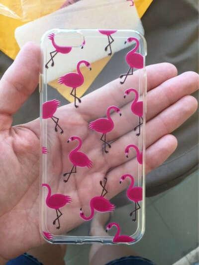 Чехол с фламинго