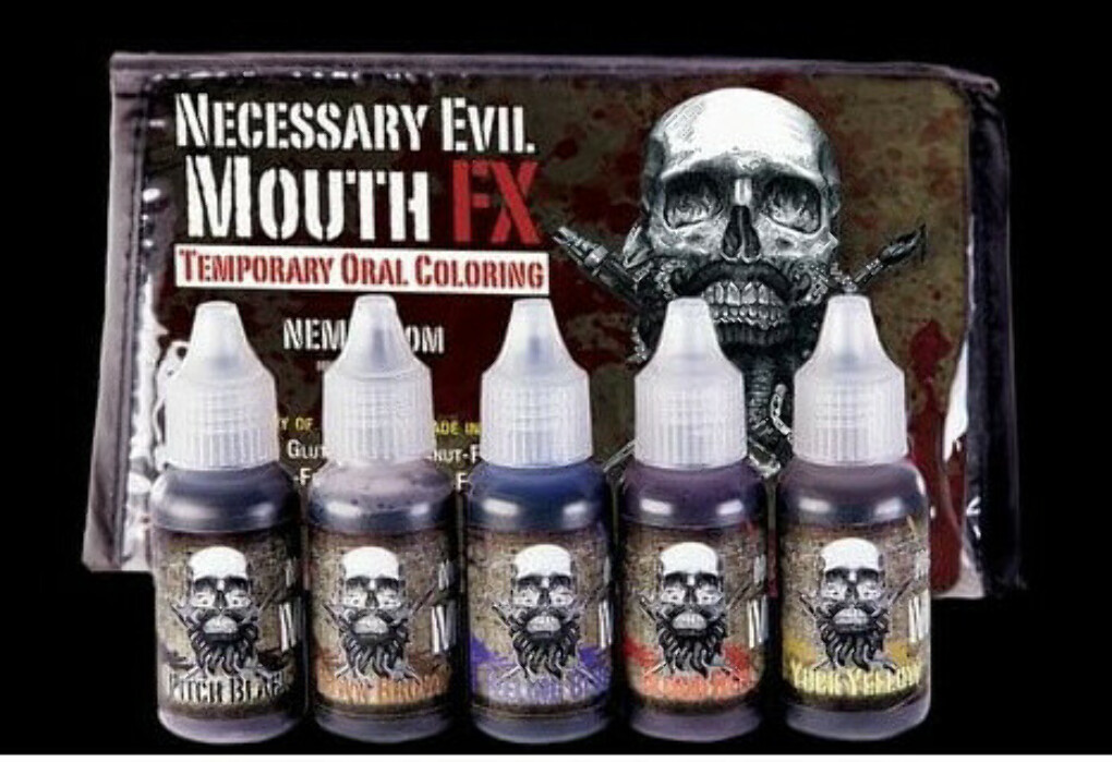 NECESSARY EVIL MOUTH FX - KIT OF 5 MOUTH COLOURS