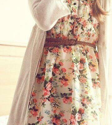 Цветочное платье