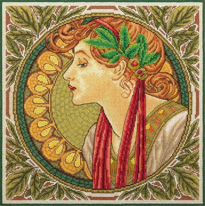 """Набор для вышивания """"PANNA"""" VH-1467 ( ВХ-1467 ) """"Лавровый венок"""" купить за 1203,00 руб. в интернет-магазине Леонардо"""