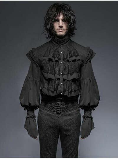 Викторианская чёрная рубашка
