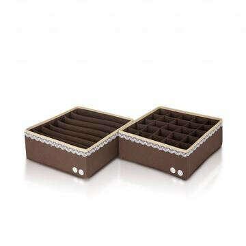 Две коробки для белья Chocolate Cake